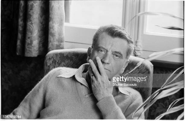 French writer and journalist Louis Pauwels relaxes at home. He was was a resistant during WWII and was sent to the concentration camp of Mauthausen....