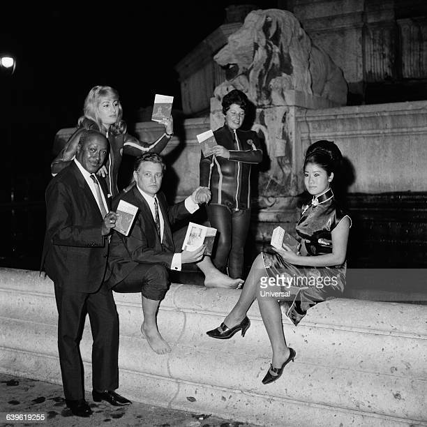 French writer Ange Bastiani born Victor Marie Lepage at a book signing for his book Bain de Minuit in the SaintSulpice fountain