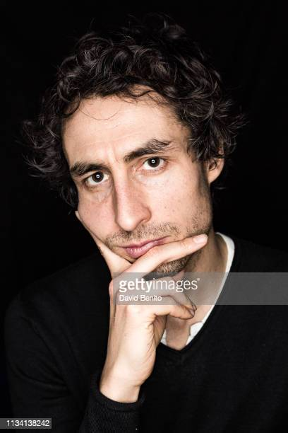 French writer Baptiste Touverey poses for a portrait session on January 31 2019 in Madrid Spain