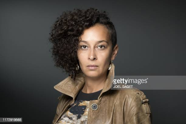 TOPSHOT French writer Beata Umubyeyi Mairesse poses during a photo session in Manosque southern France on September 26 during the 21ST 'Les...