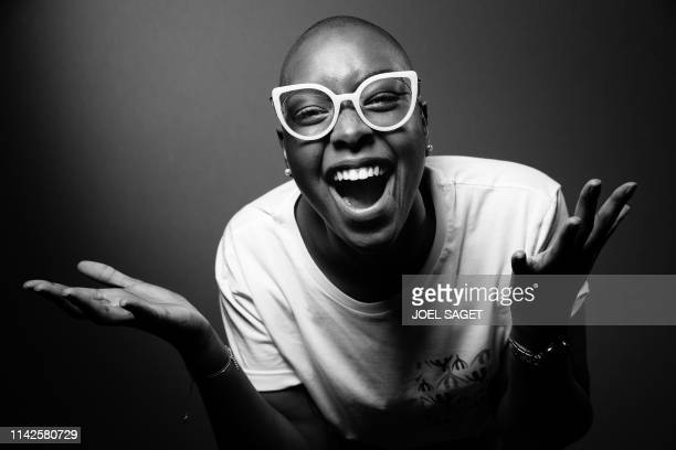 French writer Camille poses during a photo session in Paris on May 9, 2019.