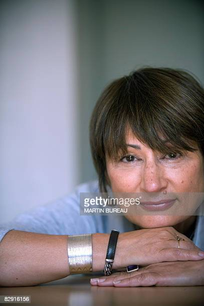 French writer Catherine Millet poses on September 19 2008 in Paris Millet published Jour de Souffrance one of the highlighted literature event this...