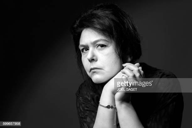 French writer Chloé Delaume poses for a picture in Paris on September 1, 2016.