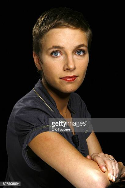 French writer Clementine Autain on the set of TV show 'Esprit Libre'