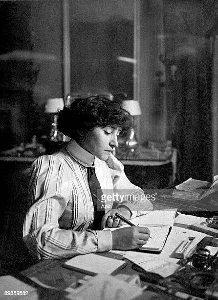 French writer Colette , june 1922