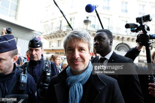 French writer Eric Vuillard, winner of the Prix Goncourt arrives at Drouant restaurant, Paris, France, 6th November 2017