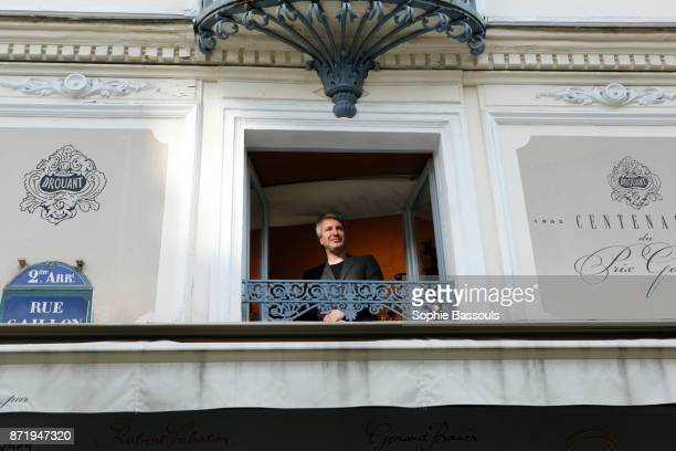 French writer Eric Vuillard, winner of the Prix Goncourt poses in Drouant restaurant, Paris, France, 6th November 2017
