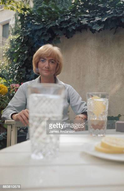 French writer Françoise Sagan at home 6th August 1970