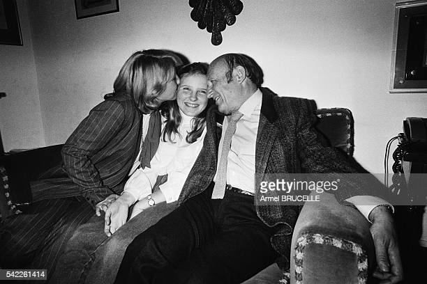 French writer Frederic Dard creator of the famous police inspector San Antonio and his wife Francoise de Caro had to wait 48 hours to be reunited...