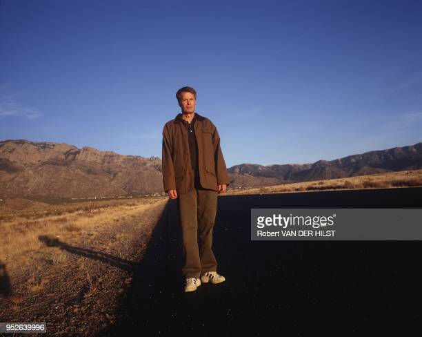 French writer Jean-Marie Gustave le Clezio in Albuquerque's desert, New-Mexico.
