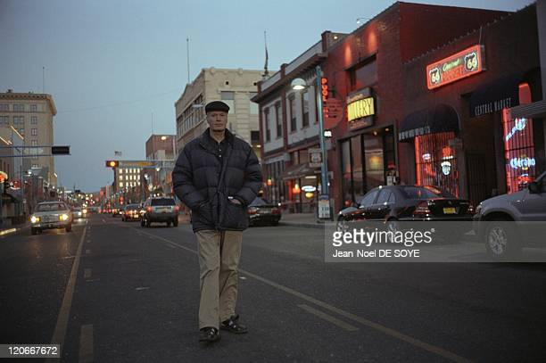 French writer JeanMarie Le Clezio in Albuquerque United States in 2006 On the route 66 in Albuquerque