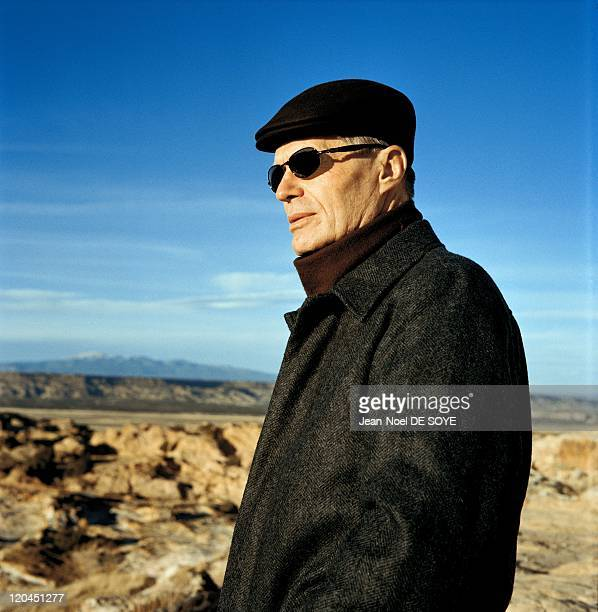 French writer JeanMarie Le Clezio in Albuquerque United States in 2006 Indian reserve of Acoma