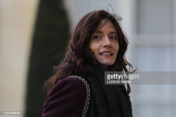 French writer Laetitia StrauchBonart arrives for a meeting with some 60 intellectuals and the French president as part of the Great National Debate...
