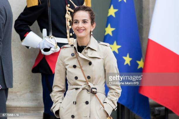 French Writer Leila Slimani attends a lunch between French President Francois Hollande and King Mohammed VI of Morocco the latter being came in order...