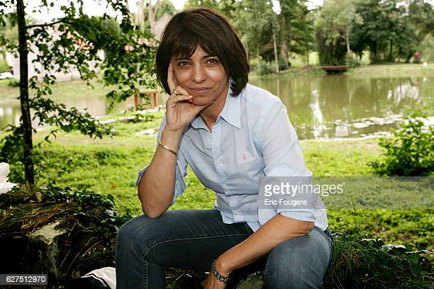 French writer Leslie Bedos at the Foret Des Livres exhibition created and organized by Gonzague Saint Bris