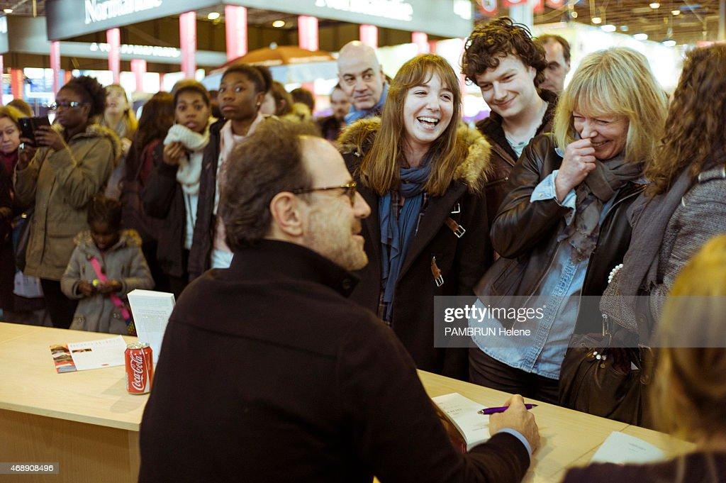 Writer Marc Levy at the 35th Salon du Livre in Paris