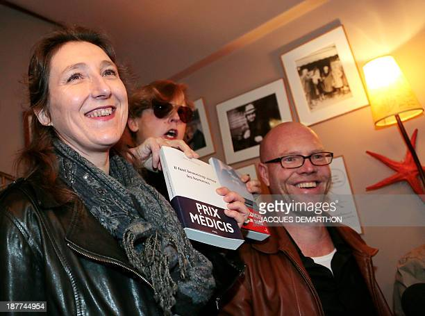 French writer Marie Darrieussecq awarded with the Medicis Prize for her book 'Il faut beaucoup aimer les hommes' French writer and member of the...