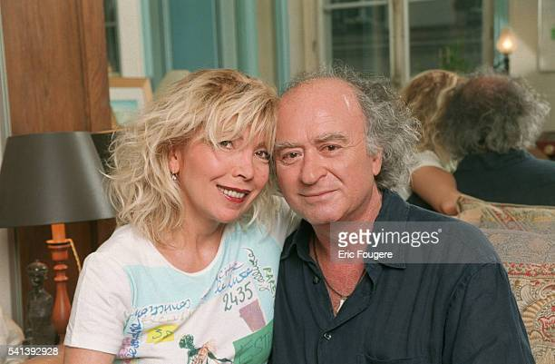 French writer Maryse Wolinski and her husband cartoonist Georges Wolinski