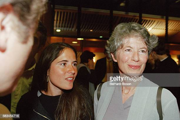 French writer Mazarine Pingeot daughter of former French president François Mitterrand and her mother Anne Pingeot attend the screening of the...