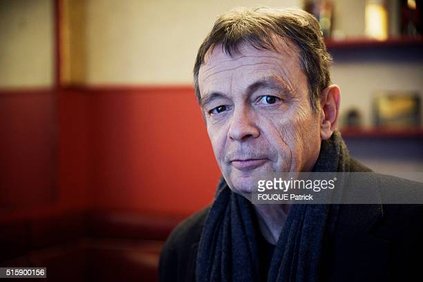 PARIS FRANCE FEBRUARY 29 French writer Pierre Lemaitre on February 29 2016 in ParisFrance