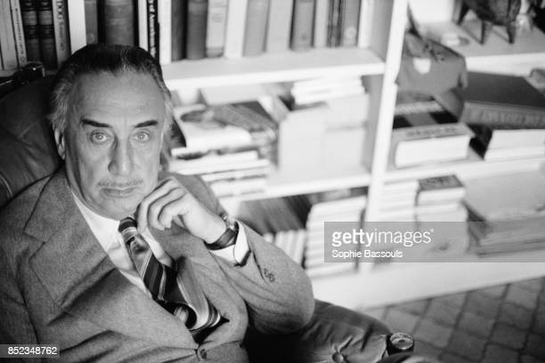 French writer Romain Gary at home.