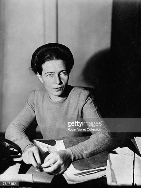 French writer Simone de Beauvoir November 1945