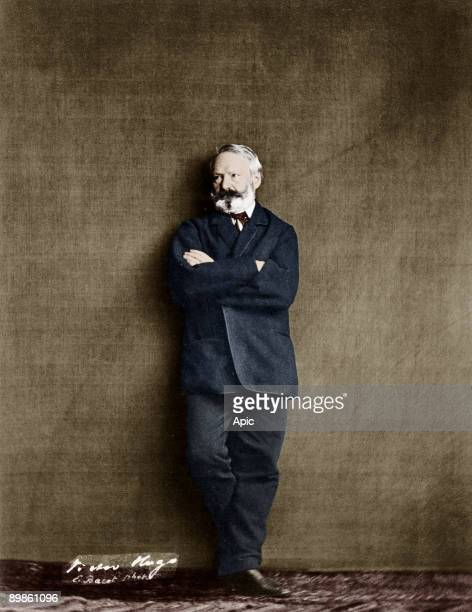 French writer Victor Hugo here in 1860, photo by E. Bacot