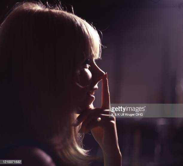 French ye-ye singer France Gall backstage during the filming of German TV Show 'Vergissmeinnicht', Hamburg, Germany, circa 1965.