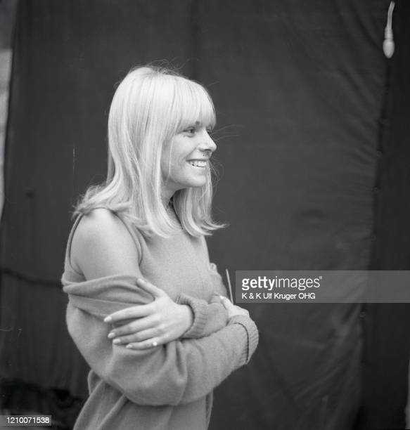 French ye-ye singer France Gall during the filming of German TV Show 'Vergissmeinnicht', Hamburg, Germany, circa 1965.