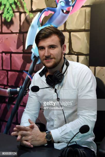 French Youtubeur Theo Caster aka Trapa Clash poses as he takes part in the eSports World Convention Summer edition, on July 2 at the Palais des...