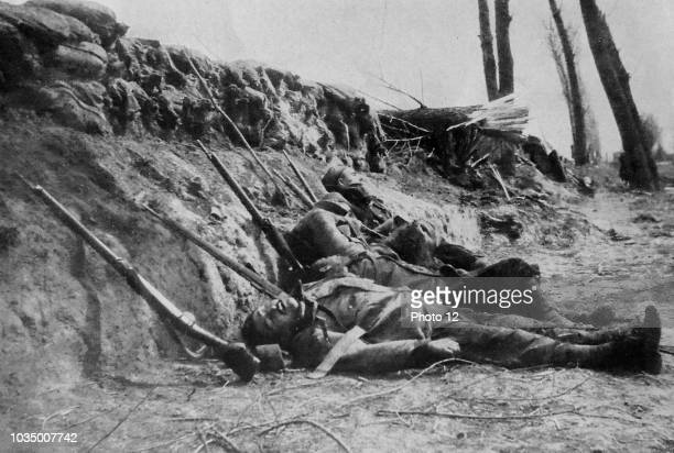 French Zouaves killed by gas during a battle on the western front during world war one 1915