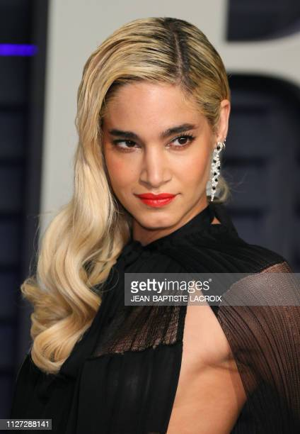 French/Algerian actress Sofia Boutella attends the 2019 Vanity Fair Oscar Party following the 91st Academy Awards at The Wallis Annenberg Center for...