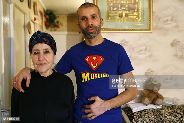 "French-Algerian-Australian writer and journalist Nadir Dendoune , inspiration for the film ""The Ascension,"" poses with his mother Messaouda on..."