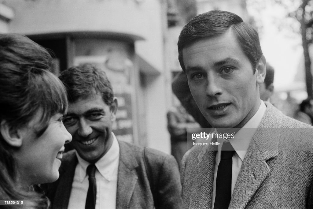 French-American actress Leslie Caron and French actor Alain Delon on the set of Paris brÌÄåÈle-t-il?, based on the book by Dominique Lapierre and directed by RenÌÄå© ClÌÄå©ment.