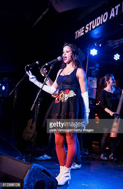 FrenchAmerican electroswing band Ginkgoa performs during the 2016 GlobalFest on the Studio stage at Webster Hall New York New York January 17 2016...