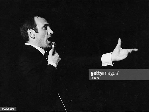 FrenchArmenian musician Charles Aznavour in concert Wiener Stadthalle Vienna 15 About 1970 Photograph by Franz Hubmann