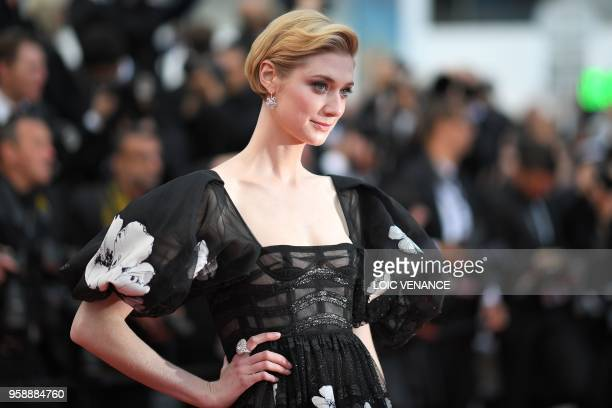 "French-Australian actress Elizabeth Debicki poses as she arrives on May 15, 2018 for the screening of the film ""Solo : A Star Wars Story"" at the 71st..."