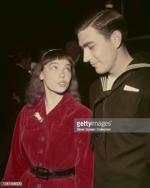French-born actress and dancer Leslie Caron and her husband, musician George 'Geordie' Hormel II , circa 1953.