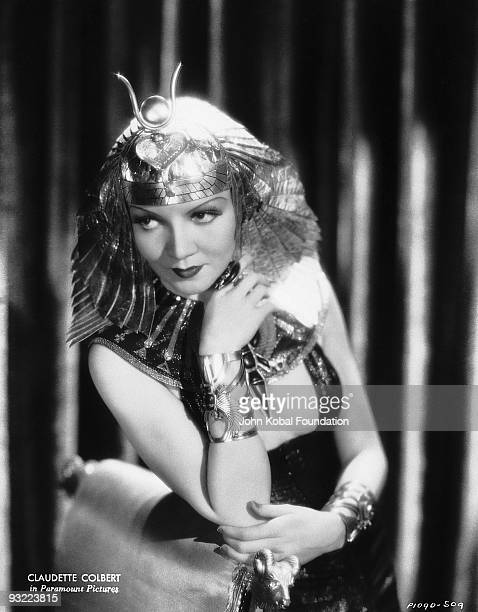 Frenchborn actress Claudette Colbert plays the eponymous Egyptian queen in the historical drama 'Cleopatra' directed by Cecil B DeMille 1934