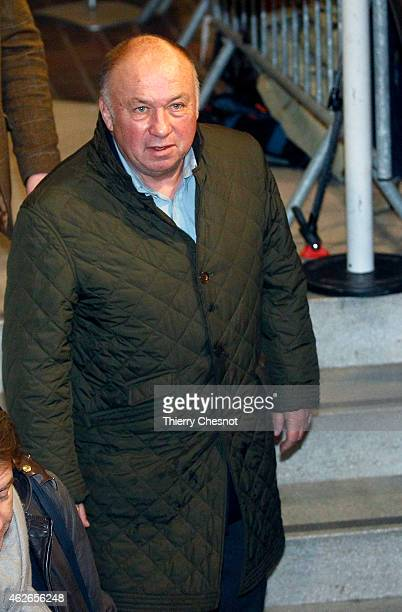 Frenchborn alleged pimp and defendant Dominique Alderweireld or 'Dodo la Saumure' arrives at the Lille courthouse on February 2 in Lille France The...