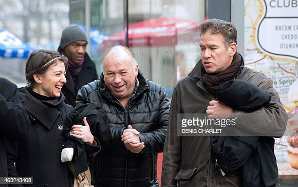 Frenchborn brothel owner Dominique Alderweireld aka 'Dodo la Saumure' his lawyers Alice CohenSabban and Sorin Margulis arrive at the Lille courthouse...