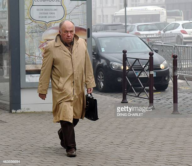 Frenchborn brothel owner Dominique Alderweireld aka 'Dodo la Saumure' arrives at the courthouse in the northern city of Lille on 16 2015 on the third...