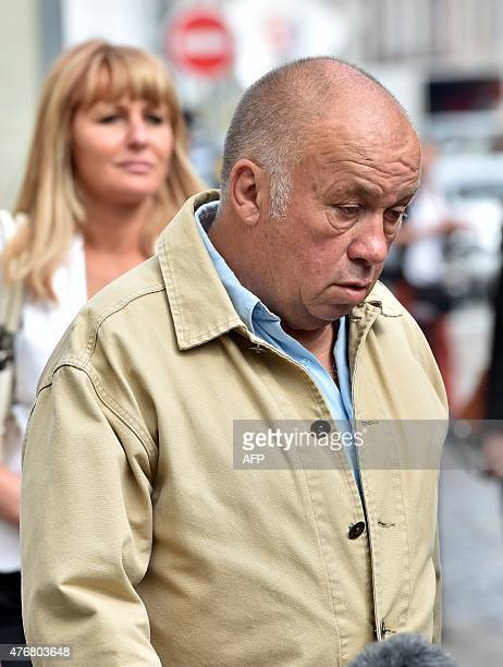 Frenchborn brothel owner Dominique Alderweireld aka 'Dodo la Saumure' arrives at the courthouse in the northern French city of Lille on June 12 2015...