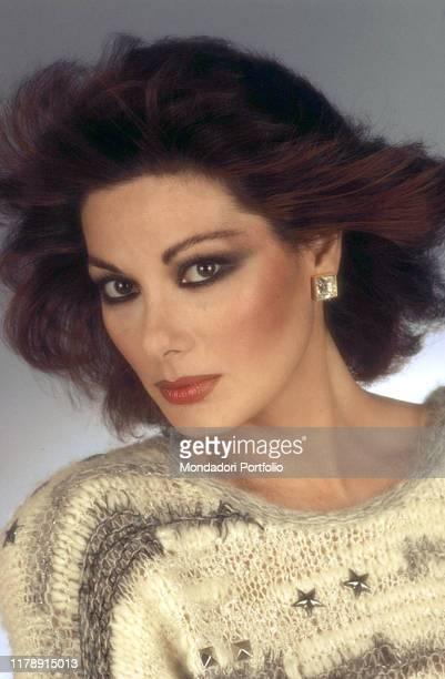 Frenchborn Italian actress Edwige Fenech posing 1983
