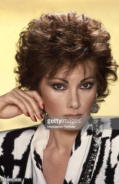 Frenchborn Italian actress Edwige Fenech posing 1986