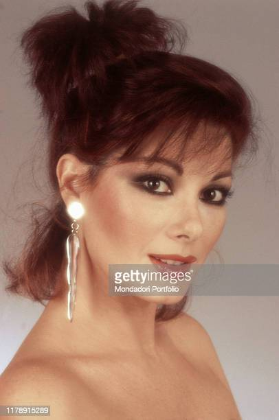 Frenchborn Italian actress Edwige Fenech posing smiling 1983