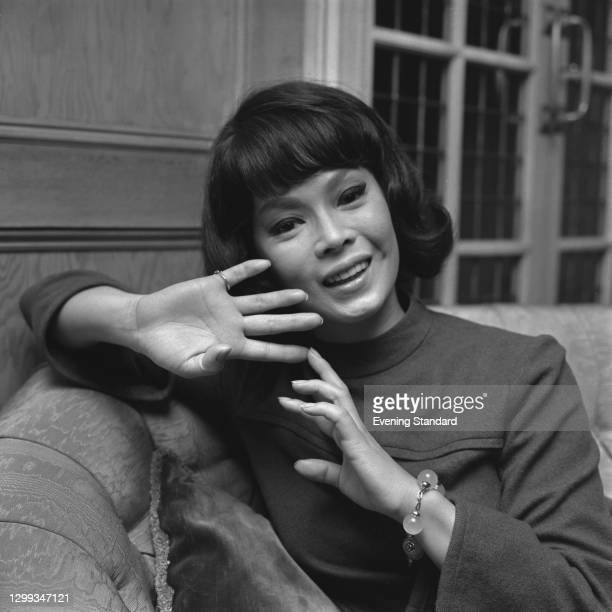 French-born Japanese actress and entertainer Yoko Tani , UK, 5th December 1966.