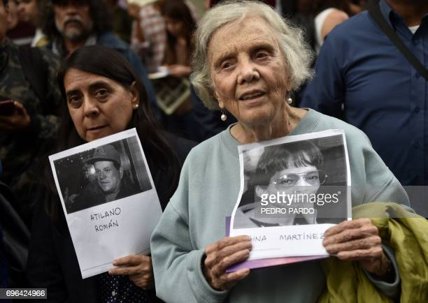 Frenchborn Mexican writer Elena Poniatowska takes part in a protest to mark one month since the murder of their colleague Javier Valdez a noted...