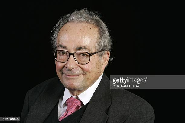 Frenchborn US writer scholar critic and philosopher George Steiner poses during the Cite de la Reussite event at the Sorbonne university 21 October...