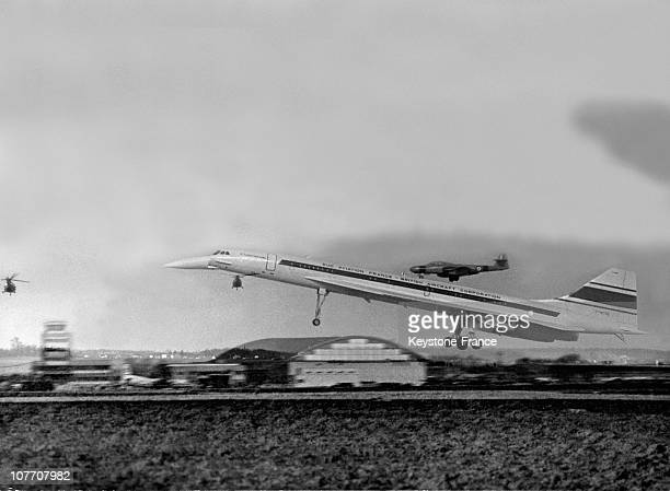 FrenchBritish 001 Concorde Prototype During TakeOff For A 27 Minute Trial Flight From ToulouseBlagnac On February 3Rd 1969